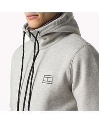 Tommy Hilfiger - Gray Cotton Blend Hoody for Men - Lyst