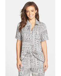 Kensie - Natural Print Sleep Shirt - Lyst
