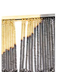 MM6 by Maison Martin Margiela - Metallic Fringed Necklace - Lyst