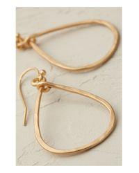 Anthropologie | Metallic Pandora Hoop Earrings | Lyst