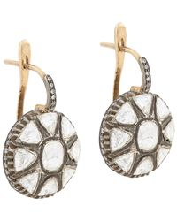 Munnu | Metallic Indo Russian Drop Earrings | Lyst