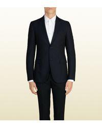 Gucci - Blue Diamante Jacquard Dylan '60's Jacket - Lyst