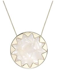 House of Harlow 1960 | Metallic Gold-tone Imitation Pearl Sunburst Pendant Necklace | Lyst