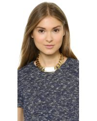 House of Harlow 1960 - Metallic Id Necklace - Gold - Lyst