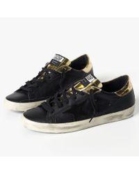 James Perse Black Golden Goose Superstar Sneaker - Mens for men