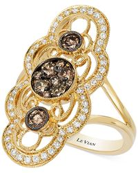 Le Vian | Metallic Chocolatier® Chocolate Deco Estate™ Gold Diamond (7/8 Ct. T.w.) Ring In 14k Gold | Lyst