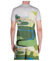 J.W.Anderson - Green Landscape Printed Cotton T-Shirt for Men - Lyst
