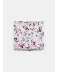 Violeta by Mango - White Flower Print Scarf - Lyst