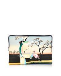Mary Katrantzou - Multicolor Flamingo-Print Canvas Document Holder - Lyst