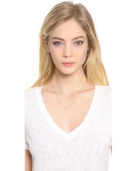 EF Collection - Pink Chevron Necklace - Lyst