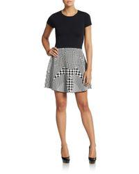 Parker - Black Danny Jersey-knit Dress - Lyst