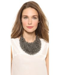 Vera Wang Collection - Black Spiky Necklace Hematite - Lyst