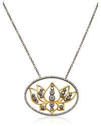 Sara Weinstock - Metallic French Lace Lotus Necklace - Lyst