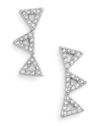 Rebecca Minkoff | Metallic Triple Triangle Stud Earrings | Lyst