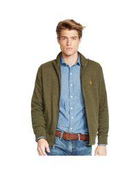 Polo Ralph Lauren | Green French-rib Full-zip Jacket for Men | Lyst