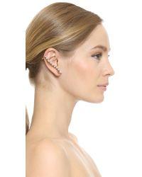 Erickson Beamon | White Left Glass Pearl Ear Crawler - Pearl | Lyst