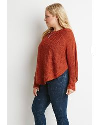 Forever 21 - Brown Plus Size Loose Knit Dolman Sweater - Lyst