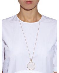 DINA KAMAL DK01 - Metallic Sapphire & Yellow-Gold Loupe Necklace - Lyst