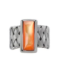 Roberto Coin | Woven Ring With Orange Mother Of Pearl | Lyst