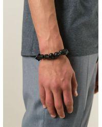 Alexander McQueen | Black Skull Bead Bracelet for Men | Lyst