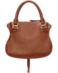 Chloé - Brown Calfskin Medium Marcie Bag - Lyst