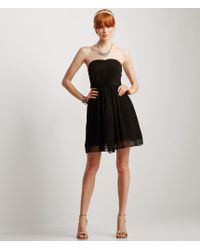 Aéropostale | Black Solid Strapless Sweetheart Dress | Lyst