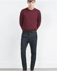 Zara | Blue Seamed Trousers for Men | Lyst