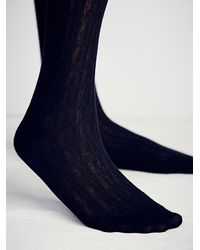Free People - Black Shine Womens Centennial Over The Knee Sock - Lyst
