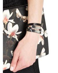 McQ - Black Leather Wrap Bracelet - Lyst
