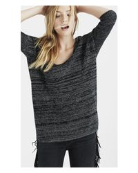 Express - Black Marled London Tunic Sweater - Lyst