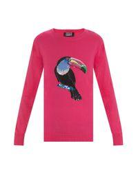 Markus Lupfer | Pink Toucan Sequin Natalie Jumper | Lyst
