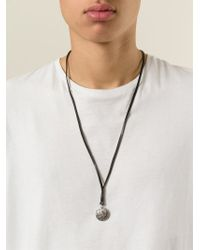 DIESEL - Black 'Apolloc' Necklace for Men - Lyst
