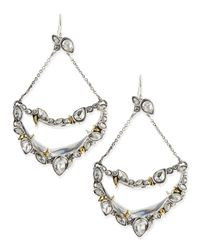 Alexis Bittar | Metallic Jardin Mystere Suspended Crescent Earrings with Jagged Crystals | Lyst