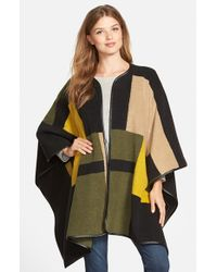 Vince Camuto | Green Blanket Jacquard Poncho | Lyst