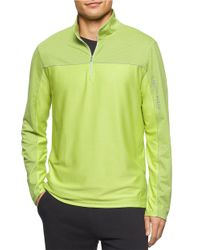 Calvin Klein - Green Zip Placket Athletic Top for Men - Lyst