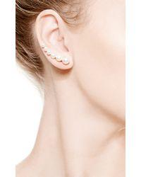 Sophie Bille Brahe   Metallic Croissant De Perle Earring For Right Ear   Lyst