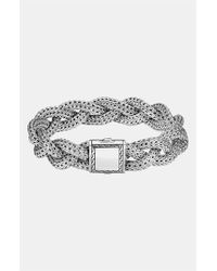 John Hardy | Metallic 'classic Chain' Medium Braided Bracelet - Sterling Silver | Lyst