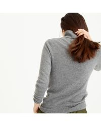 J.Crew - Gray Italian Classic Turtleneck Sweater In Cashmere - Lyst