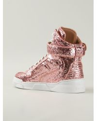 Givenchy - Pink 'Tyson' Hi-Top Sneakers - Lyst