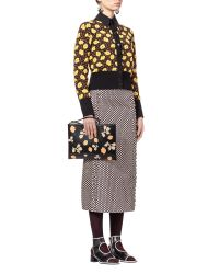 Marni | Brown Cardigan In Jacquard Buttercup Design | Lyst