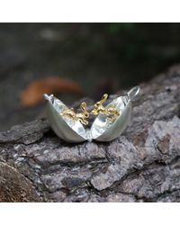 By Emily - Metallic Silver And Gold Boxing Hare Locket - Lyst