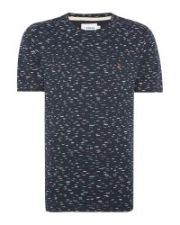 Farah | Blue Foxton Regular Fit Dash Print T-shirt for Men | Lyst