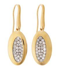 Roberto Coin - Metallic 18 Karat Gold Capri Diamond Earrings - Lyst