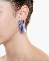J.W.Anderson | Blue Folded Perspex Earrings | Lyst