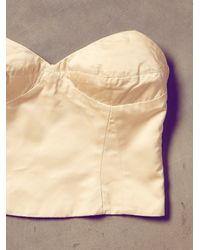Free People - Natural Vintage 80s Ivory Bustier - Lyst