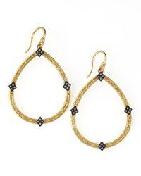 Armenta - Metallic 18k Gold Open Diamond Pear Earrings - Lyst