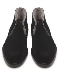 Jules B - Black Mens Suede Shearling Lined Chukka Boots for Men - Lyst