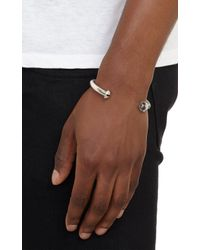 Giles & Brother - Metallic Antique Silver Nut & Bolt Cuff for Men - Lyst
