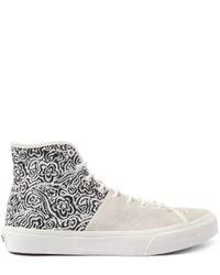 Vans - White And Black Sk8- Hi Tops Decon Suade Shoes for Men - Lyst