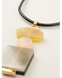 Marni - Pink Geometric Necklace - Lyst